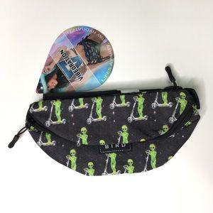 "ET ""Alien on Scooter"" black fanny pack waist bag"